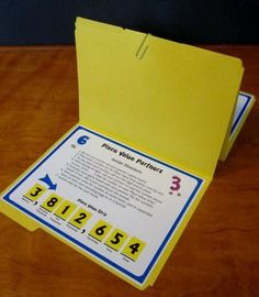 Place Value Partners Game - Awesome for math centers! - Includes two versions: Traditional terms and CCSS terms - Each version has several levels covering both whole numbers and decimals $