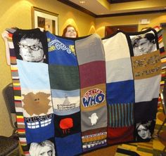 One of my friends made a Dr. Who blanket. Awesome!!