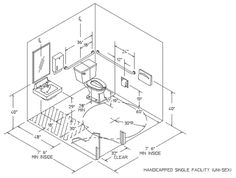 Handicapped Bathroom Layout Important For Just In Case Dream - Handicapped bathroom dimensions