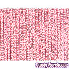 Sassy Straws Candy Powder Filled Mini Straws - Cherry: 50-Piece Bag