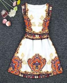 Printed Puffy Dress -Weird print but I love this one! Puffy Dresses, Cute Dresses, Beautiful Dresses, Summer Dresses, Dress Outfits, Dress Up, Cute Outfits, Fashion Outfits, Vanity Clothing