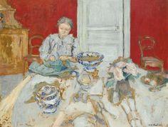 Edouard Vuillard, MADAME VUILLARD ECOSSANT