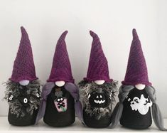 Halloween Witch with spiderweb: Unique and Whimsical decor.   Etsy Scandinavian Christmas Decorations, Felt Christmas Decorations, Scandinavian Gnomes, Halloween Decorations, Holidays Halloween, Spooky Halloween, Halloween Crafts, Bricolage Halloween, Halloween Tricks