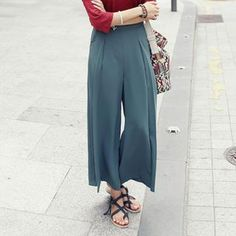 Buy 'REDOPIN – Pleat-Front Wide-Leg Pants' with Free International Shipping at YesStyle.com. Browse and shop for thousands of Asian fashion items from South Korea and more!