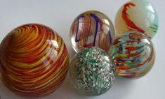 Antique handmade marbles. - THE MARBLES