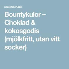 Bountykulor – Choklad & kokosgodis (mjölkfritt, utan vitt socker) Healthy Snacks, Food And Drink, Dinner, Babyshower, Health Snacks, Dining, Healthy Snack Foods, Food Dinners, Baby Shower