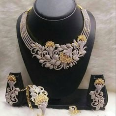 Necklaces – Page 11 – Finest Jewelry Fancy Jewellery, Gold Jewellery Design, Trendy Jewelry, Luxury Jewelry, Fashion Jewelry, Designer Jewellery, Indian Wedding Jewelry, Indian Jewelry, Diamond Necklace Set