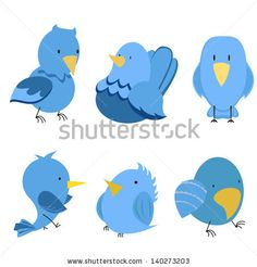 Vector funny birds icon set up, fly, bird, cute, wing, blue, blog, talk, icons, sweet, media, funny, happy, vector, design, little, animal, network, clipart, message, singing, cartoon, isolated, business, backdrop, cheerful, happiness, character, attractive, background, illustration