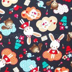 Cotton animal fabric