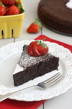 Dark Chocolate Soufflé Cake by Tracey's Culinary Adventures, via Flickr