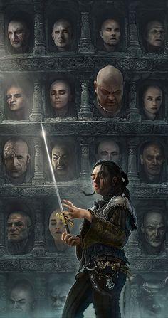 Arya Stark (No one) and Needle - Game of Thrones - Fan art: Dessin Game Of Thrones, Arte Game Of Thrones, Game Of Thrones Artwork, Game Of Thrones Arya, Game Of Thrones Cartoon, Fan Art, Le Clan, Game Of Thones, Film Disney