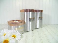 Mid Century Set of 3 Spun Aluminum Copper Color by DivineOrders, $27.00