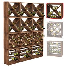 When setting up a basement bar there are some must have items you must have around or your basement bar won't really be a bar but just a basement pretending to be. Wine Shelves, Wine Storage, Cool Wine Racks, Deco Paris, Wine Rack Plans, Home Wine Cellars, Wine Cellar Design, Basement Bar Designs, Wine Bottle Rack