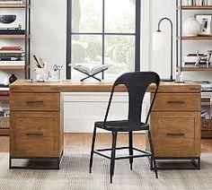 Francisco Draft Desk, Office Desk | Pottery Barn Home Office Space, Home Office Desks, Office Decor, Office Furniture, Office Inspo, Office Setup, Office Chairs, Office Ideas, Bedroom Furniture