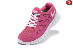 31387 2014 Chaussure Nike Free Run 2.0 Femme Rose Blanche HGVG