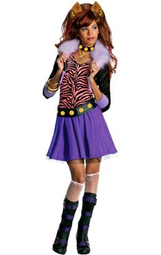 Child Monster High Clawdeen Costume | Jokers Masquerade