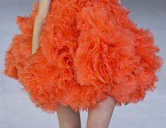 Alexander McQueen s/s 2012, orange layers