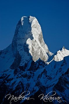 Mustagh Tower1.{ 7,273 metres (23,862 ft)}  in the Baltoro Muztagh, part of the Karakoram range in the Northern Areas of Pakistan