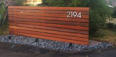 Fence completed here is the close up. Here is the before and after of our horizontal fence. All made from Clear Cedar and oil finished for long lasting protection. Numbers ordered from www.modernho…