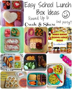 Easy School Lunch Box Ideas- check out these cute ideas and link up your own!