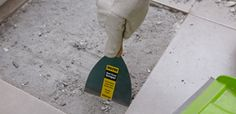 Scrape grout with removing tool