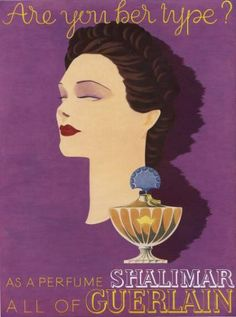 My grandma marie only wore Shalimar!  Great memories of her smell when she hugged me! Guerlain Shalimar poster by Elise Darcy