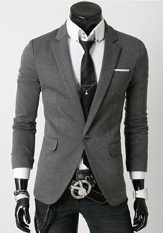 I 💟 the belt buckle❗ Men's Every Day Single Button Blazer Mens Casual Suits, Casual Blazer, Mens Suits, Casual Menswear, Belt Buckle Mens, Pinterest For Men, Street Style Shoes, Latest Mens Fashion, Men Fashion