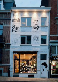 extraordinary bookstore in Brussels covered in typography!