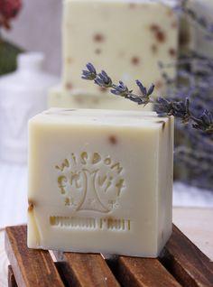 <3 Embossed lavender soap