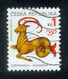 Czech Republic Zodiac Postage Stamps  Fabulous by RubyDogArt