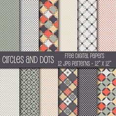 Quality DigiScrap Freebies: Circles and Dots paper pack freebie from Cherie's Arts 'n Crafts