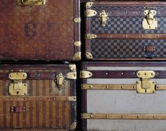 Every man should have at least one Louis Vuitton trunk. They make perfect coffee tables.