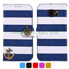Find More Phone Bags & Cases Information about Exclusive Stripes Pattern Flip PU Leather Case with Strap Anchor Helm Decor for Samsung Galaxy S6 Edge Hands Free Pirate style ,High Quality leather suit case,China case for samsung galaxy gio Suppliers, Cheap leather sofa made in china from Elecsmart Co., Ltd. on Aliexpress.com