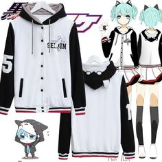 Hot Anime Kuroko no Basuke Cosplay Baseball Jacket Hoodie Casual Coat Sweatshirt