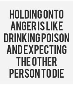 Let that anger go! No point!