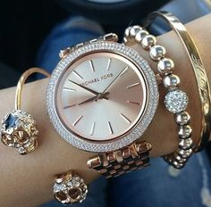 Cute watch and bangles more to come Follow my Instagram: @ChanelMonroe365 Pinterest: Follow @ChanelMonroe  for  Pins  for  Pinning
