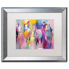 Trademark Fine Art Wild Horse Metallic Framed Wall Art, White