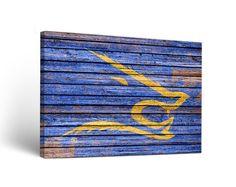Texas A&M Kingsville Javelinas Weathered Wood Canvas Wall Art Print Rectangle