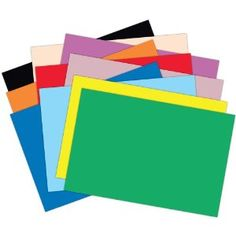 Notebooking Supplies: Colored Construction Paper