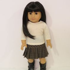 American Girl Doll Clothes  Pleated Skirt and by AmericAnnMade, $20.00