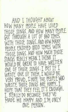 Writing music - Perks of being a wallflower