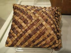 File:Woven bag for rice storage, undated, cedar bark - Wisconsin His…