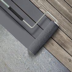 Grey Deck Paint, Painted Wood Deck, Porch Paint, Deck Over Paint, Gray Deck, Gray Paint, Deck Stain Colors, Deck Colors, Behr Deck Over Colors