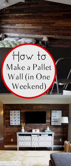 Look Over This DIY Home Improvement On A Budget – Make A Pallet Wall – Easy and Cheap Do It Yourself Tutorials for Updating and Renovating Your House – Home Decor Tips and Tricks, R ..