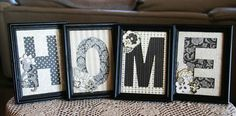 """Basic Grey Monogram Frames- EASY home decor -- how about it says """"FAMILY""""  and we post it over our photograph wall....."""