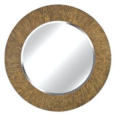 Burl Striated Black And Tan Wall Mirror Kenroy Home Round Mirrors Home Decor $178.20