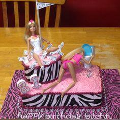 DIY Stripper & Drunk Barbie cake I made for my sister's 21st birthdayy :)