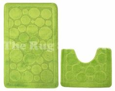 Aqualuxe Green Circle Bathset - The Rug Shop UK