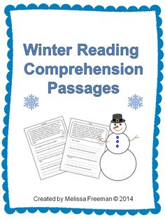 this winter reading comprehension pack has 10 passages with 4 questions each all related to a. Black Bedroom Furniture Sets. Home Design Ideas