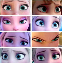 Disney 30 Day Challenge, Day 24- Favorite eyes: Elsa from Frozen Her eyes show so much emotion!